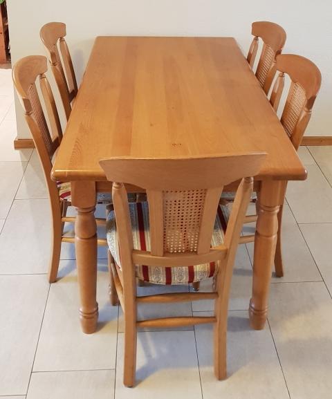 Massief Eiken Eettafel 6 Stoelen.Eettafel Met 6 Stoelen Te Koop