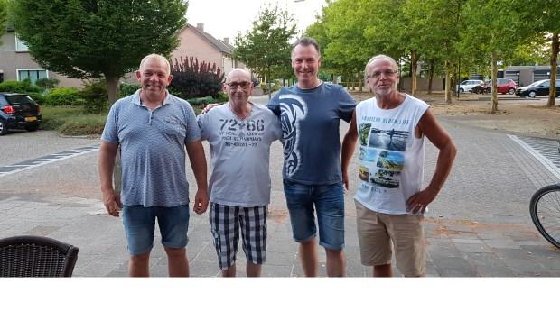 V.l.n.r.: Marco van Gorp, Evert Rokx, Wilbert van der Heijden en Piet Smits.   | Fotonummer: e11647