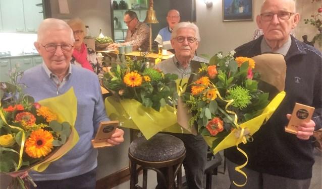 van links naar rechts: Jan Bouwdewyns, Jan Bekkers en Jan Foolen   | Fotonummer: 4836f1