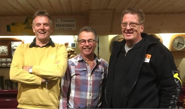 v.l.n.r.: Arie Verbakel, Piet School en John Kerkhof.  | Fotonummer: 8cad80