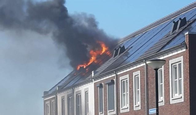 De brand van afgelopen zondag.  | Fotonummer: b94c56