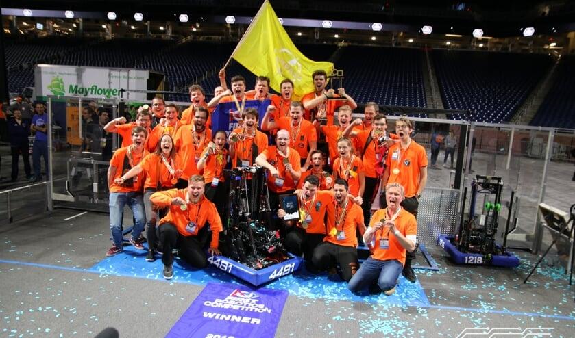 Regionaal roboticateam wereldkampioen