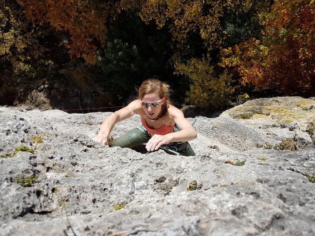 Bergbeklimmen is haar hobby.  © MooiRooi