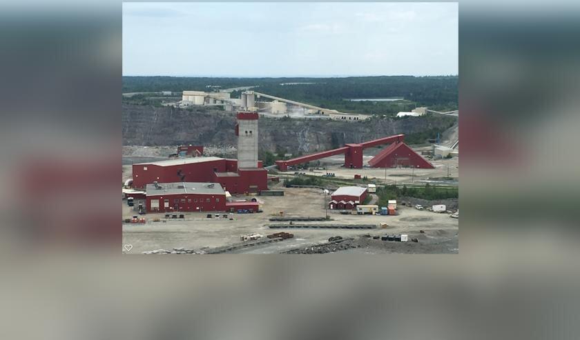 Zo ziet één van de mijnen eruit waar Gertjan werkt.     Fotonummer: 0ee7c8