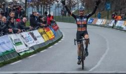 Twan van den Brand was de sterkste in de elitewedstrijd.