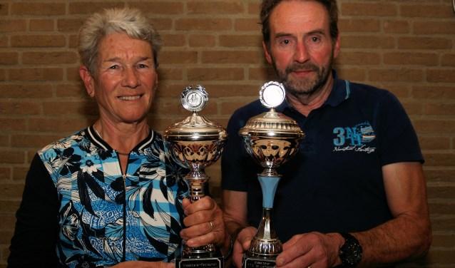 Riet van Schilt won bij de recreanten en Ad Timmermans was een klasse apart bij de trimmers van TTC de Liefhebbers.