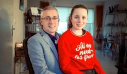 Manus Bolders met zijn dochter Fernanda