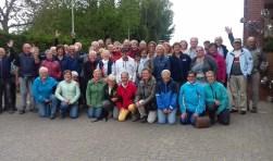 Meer dan 50 wandelaars deden mee aan de jubileumdag