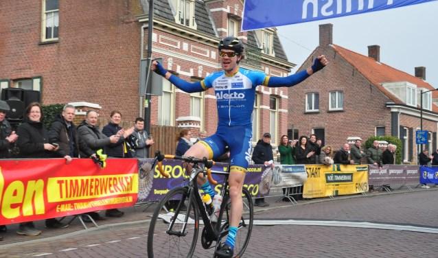 Folkert Oostra won de Ronde van Huijbergen in 2018.