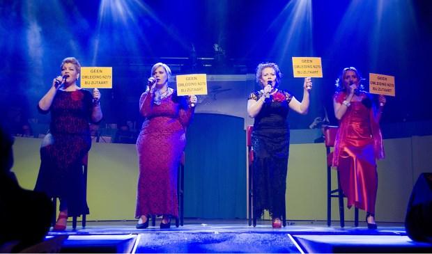 Harten 4 met een gezongen protest  © Kliknieuws Veghel