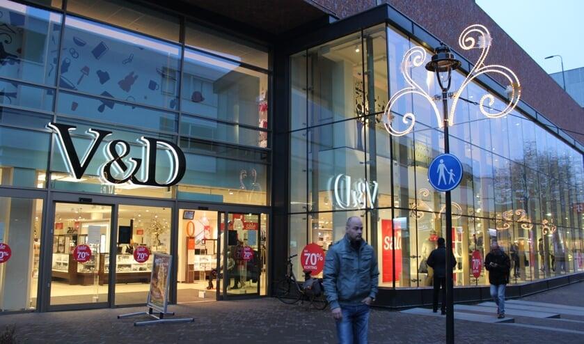 De V&D is failliet. Wat er met het filiaal in Uden gaat gebeuren is nog niet bekend.