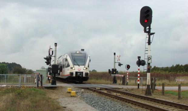 De Maaslijn moet ten zuiden van Vierlingsbeek over een lengte van 2,5 kilometer dubbelspoor krijgen.  © Kliknieuws De Maas Driehoek