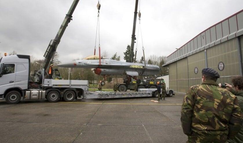 In januari kwam de F-16 aan in Volkel. (foto: Ad van de Graaf)