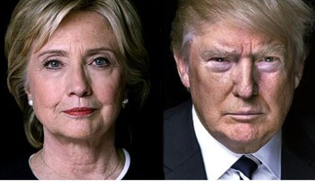 Clinton en Trump.