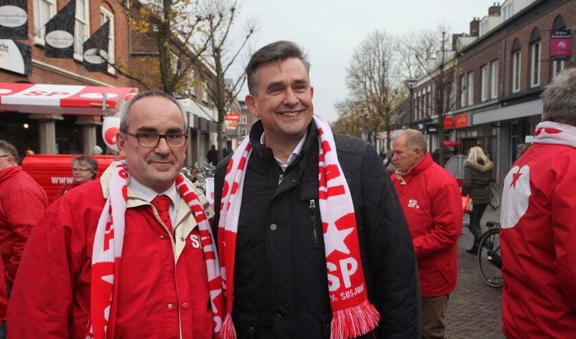 Ruud Merks en Emile Roemer samen op pad in Schijndel (Foto's Peter Kuijpers)
