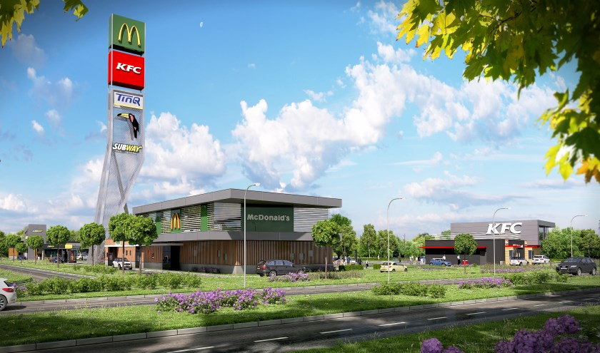 Zo gaat het Foodcourt in Uden er uitzien.