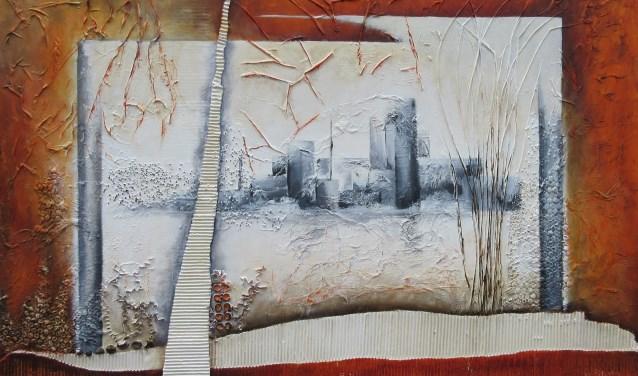 Betsie van der Cammen schilderde aanvankelijk in aquarel, later is ze overgestapt naar acryl.