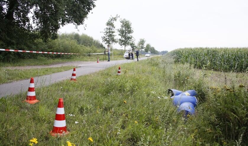Drugsafval dat eerder in Zeeland werd gevonden. Of dit met het drugslab te maken heeft, is onduidelijk. Foto: AS Media.