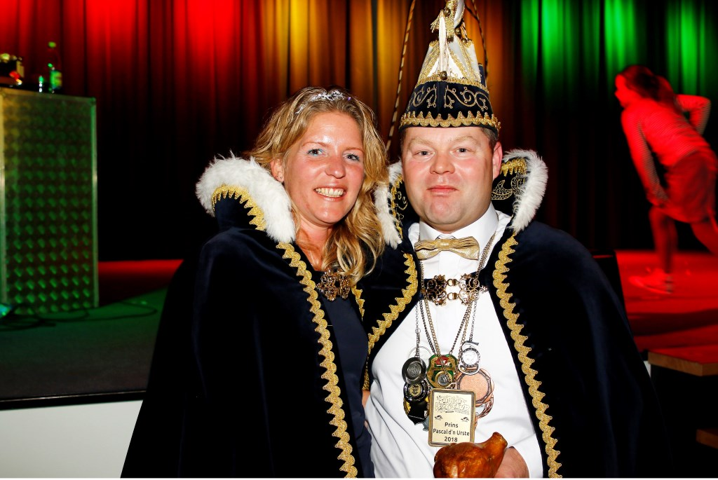 Prins Pascal Cremers en prinses Sandra van de Verkeskoppe, Beugen. Foto: Bas Delhij  © Kliknieuws De Maas Driehoek