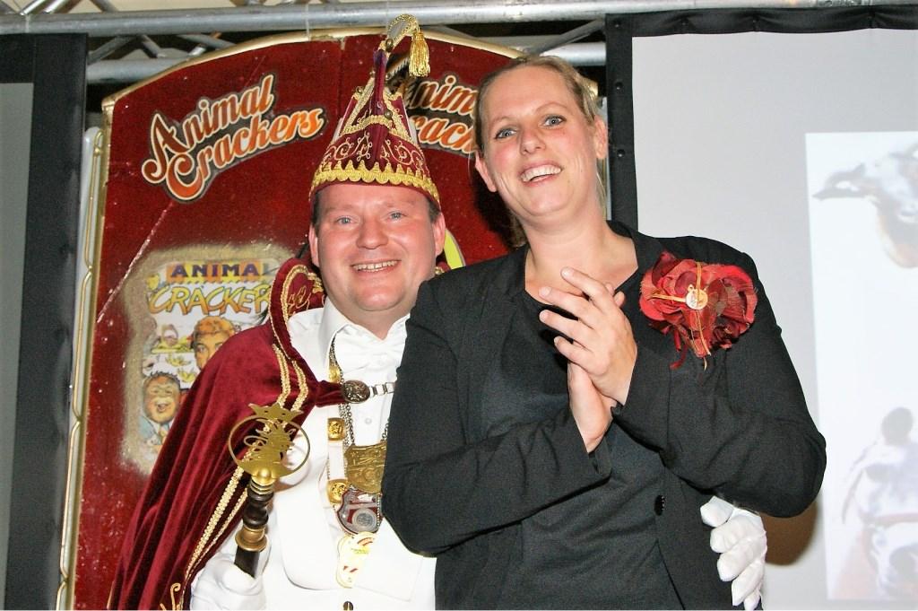 Prins Gerben d'n Urste en prinses Simone van De Bokkerijers, Beers.    © Kliknieuws De Maas Driehoek