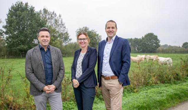 Twan Poels, Femke Vendel en Erwin Kersten (vlnr) van Twan Poels Makelaardij.