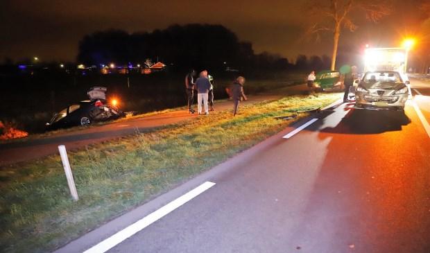 Bij het ongeval op de N321 vielen geen gewonden. Foto: SK-Media