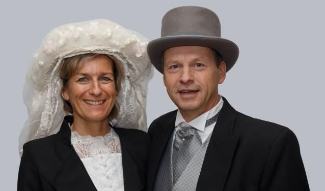 Rinio en Jacqueline van de Ven zijn het nieuwe boerenbruidspaar van CV De Schaopenwaesers
