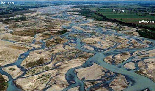 Zo zag het stroomgebied van de Maas er zo'n tienduizend jaar geleden uit.