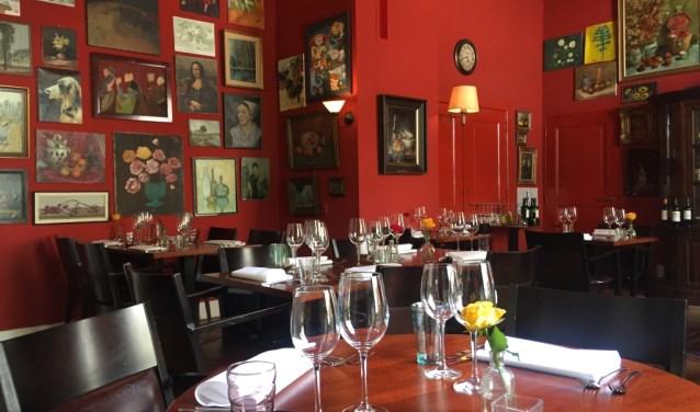 Het interieur van restaurant De Heerlijkheid bij De Weijer in Boxmeer.
