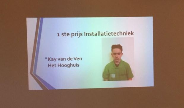 Kay van de Ven won de eerste prijs.