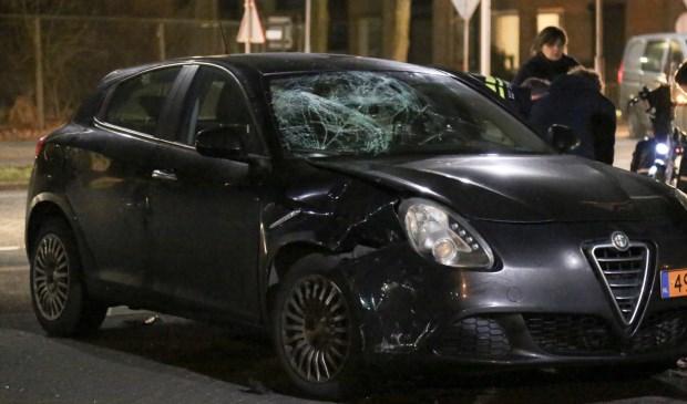 Ongeval op de Joannes Zwijsenlaan. (Foto: Maickel Keijzers / Hendriks multimedia)