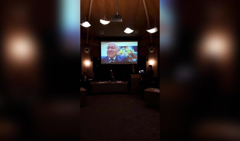 Kees van Rooij was via Skype 'aanwezig'.