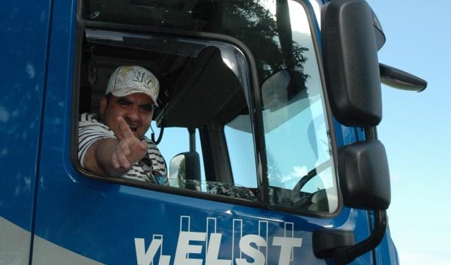 Een blij gezicht tijdens een eerdere Truckrun.