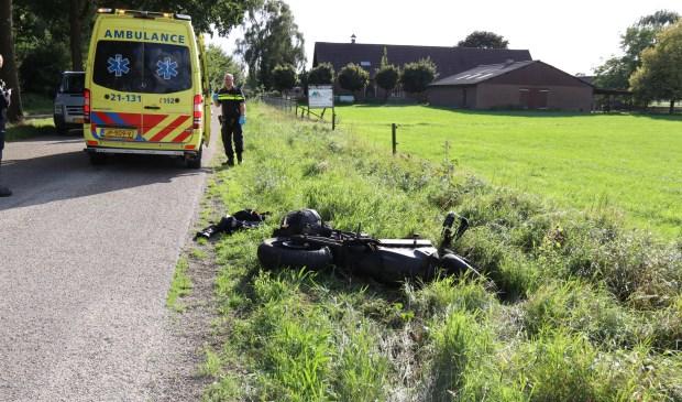 De motor raakte zwaar beschadigd bij het ongeval. Foto: SK-Media