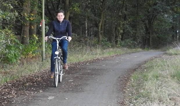 Het fietspad tussen Siebengewald en Nieuw-Bergen.