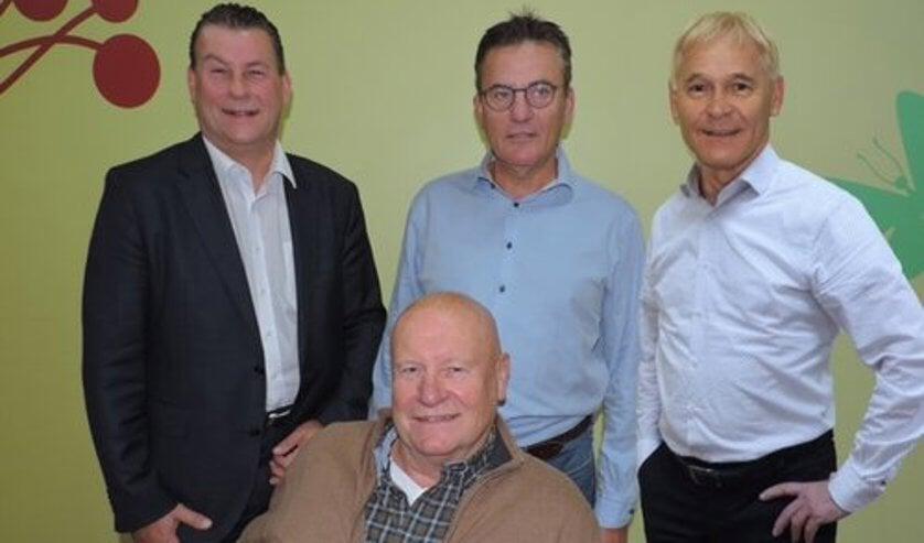 Het bestuur van UdenPlus: Cees Keizer, Tinie Kardol, Eric den Dekker, Berry Dufornee