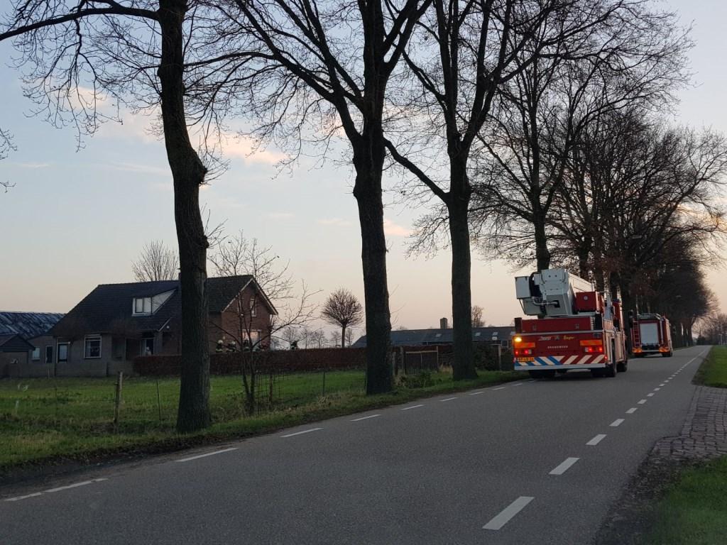 Brandweer in Berghem. (Foto: Maickel Keijzers / Hendriks multimedia)