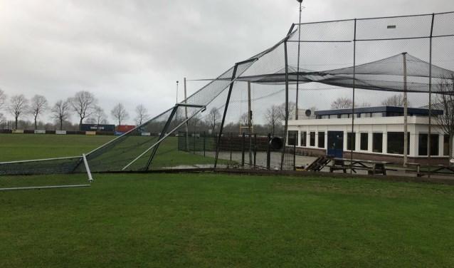 Op het veld in park Moleneind kan niet meer worden getraind