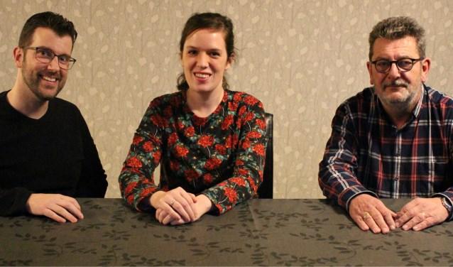 Van links naar rechts: Sander Voets, Sabine Voets en Gijs van den Bogert.