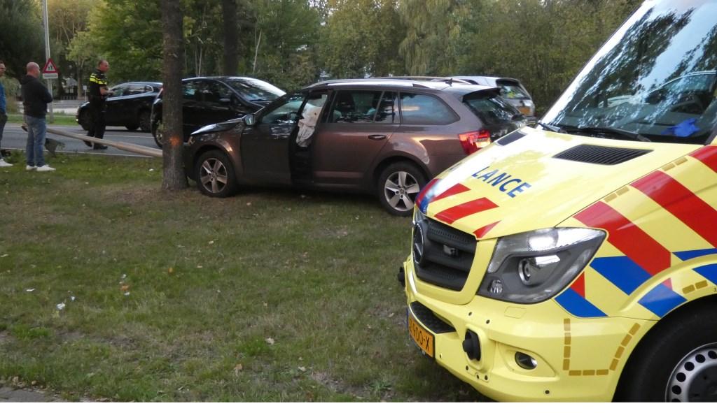 Ongeval op de Heihoeksingel.  © 112 Brabantnieuws