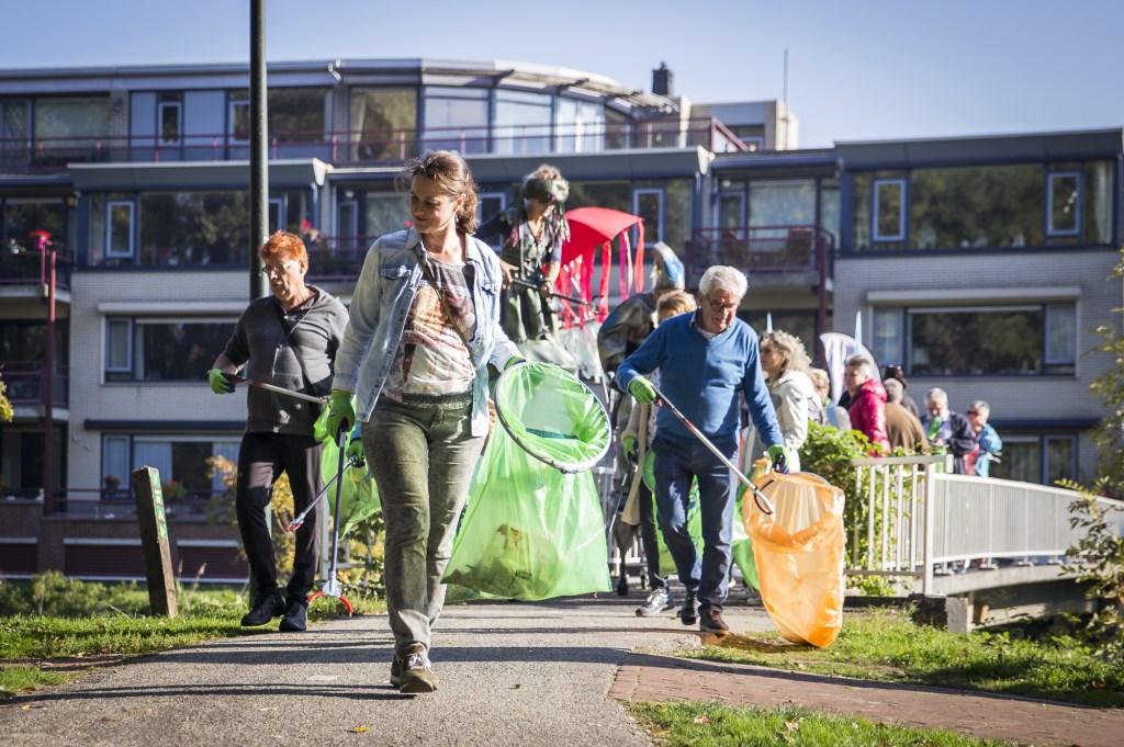 De Opschoonactie in Veghel vandaag was zeer geslaagd (Foto: Annemiek Kok).  © Kliknieuws Veghel