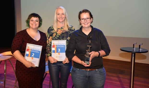 Marjolein Hordijk, Meike Boertjes en winnares Jolanda Robben.