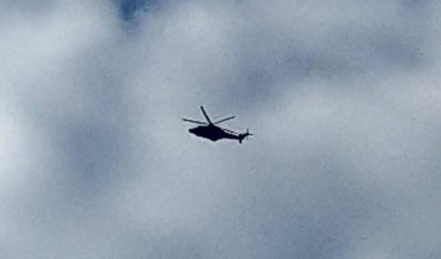 Politiehelikopter in Oss.  © Kliknieuws Oss