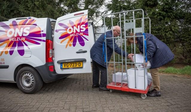 De maaltijdbezorgers van ONS Welzijn.