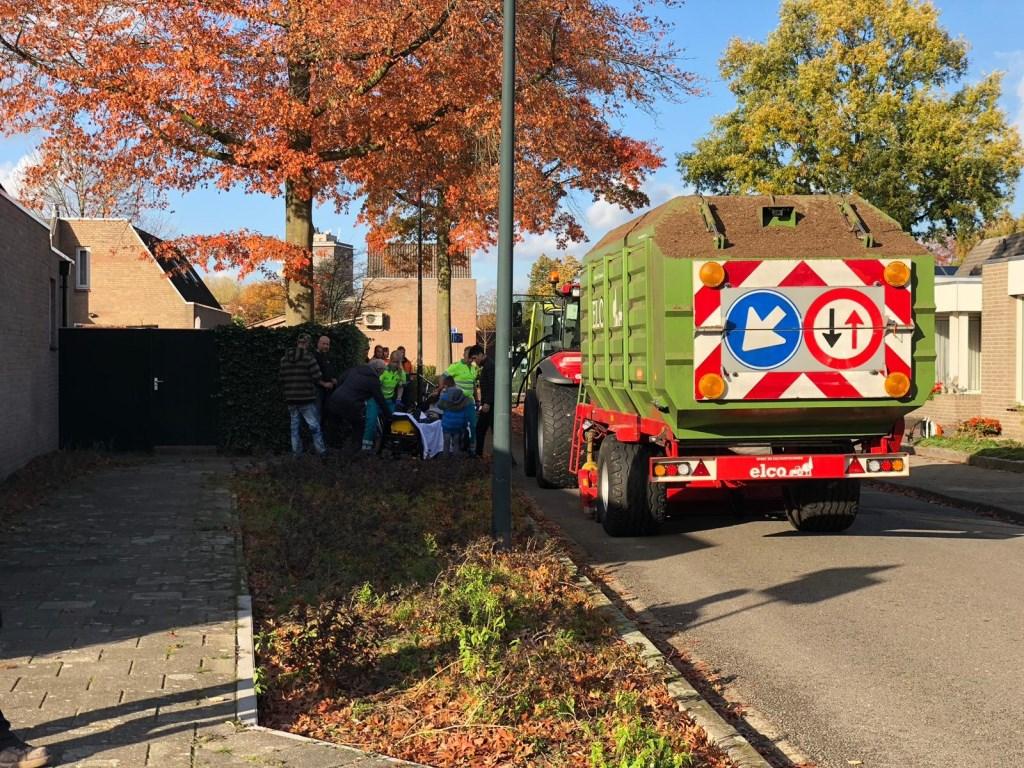 Ongeval tractor en fietser.  © Kliknieuws Veghel