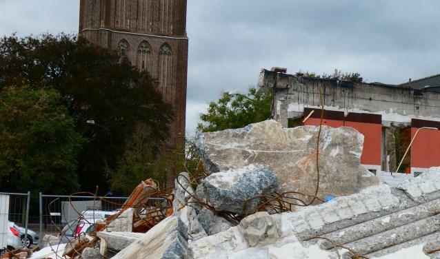 Het oude Rabobankgebouw is gesloopt.  Foto:  © Kliknieuws De Maas Driehoek