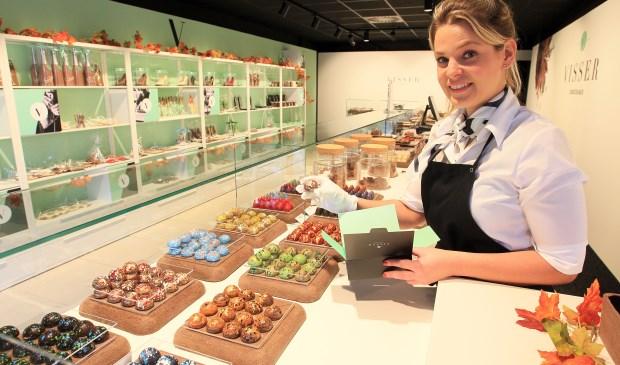 Melissa van Dinther bij Visser Chocolade Oss. (Foto: Hans van der Poel)