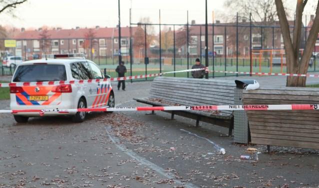 Het Cruyff Court valt onder het veiligheidsrisicogebied (Foto: Hans van der Poel)