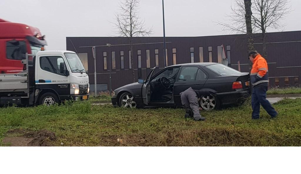 Ongeluk Op Corridor Bestuurder Zet Auto Meteen Te Koop