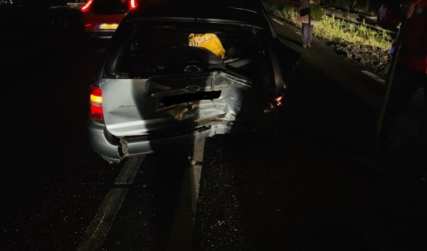Auto's lopen schade op bij kop-staartbotsing Paalgraven